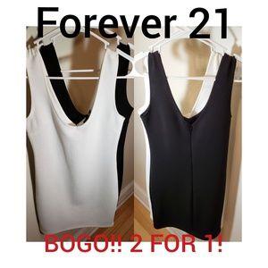 Black/White Mini Dresses